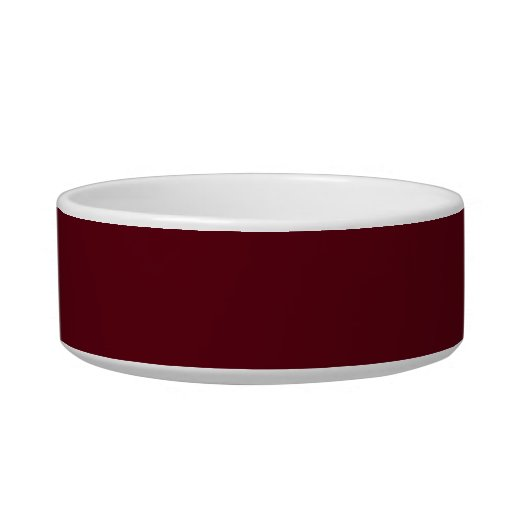 Pet Bowl with Red Brown Background