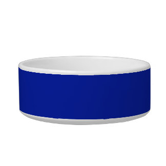 Pet Bowl with Royal Blue Background