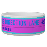 One Direction Lane   Pet Bowls