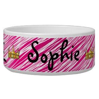 Pet Bowls Chinese Symbol For Princess On Pink Dog Food Bowl