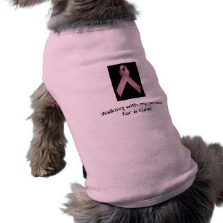 Pet Breast Cancer T-shirt Dog Tee Shirt