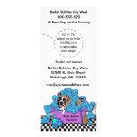 Pet Brindle Boxer Grooming Business Door Hangers Rack Cards