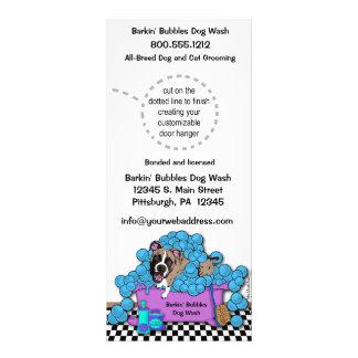 Pet Brindle Boxer Grooming Business Door Hangers Customized Rack Card