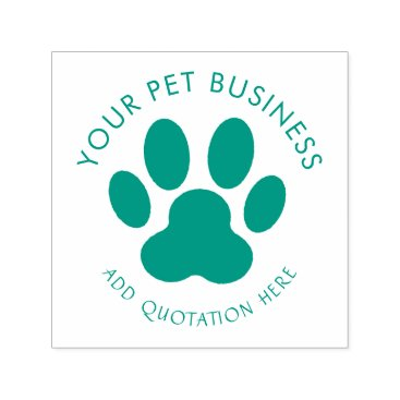 Professional Business pet business paw print self-inking stamp