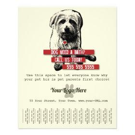 Pet Business Tear Sheet Flyer - Personalize