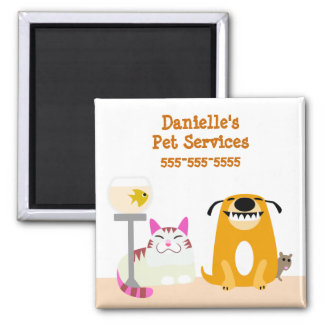 Pet Care Business 2 Inch Square Magnet