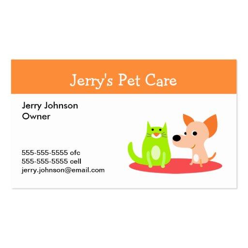 Animal pet care business card templates bizcardstudiocom for Pet care business cards