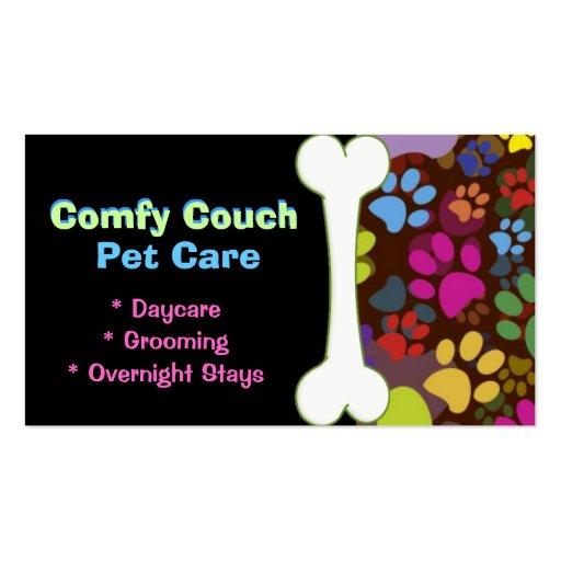 Pet care business card paw prints zazzle for Pet care business cards