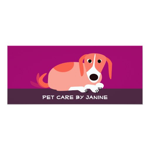 Pet Care Business Card Personalized Invites