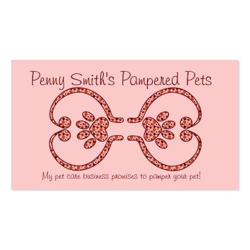 Pet Care Business Card Semi-casual
