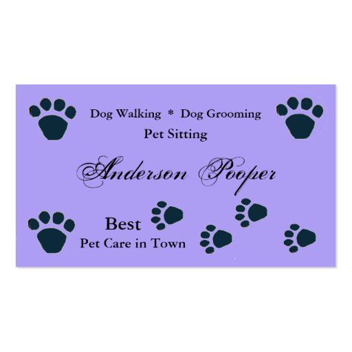 Pet care business card template zazzle for Pet business cards