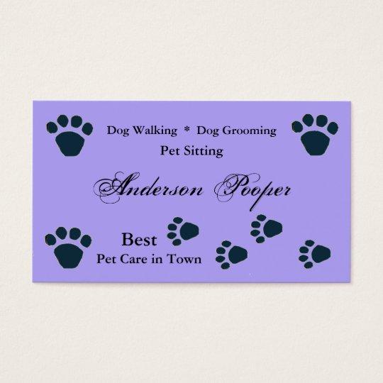Pet Care Business Card template