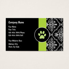 Pet Care Business Cards at Zazzle