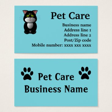 Professional Business Pet Care Business cards