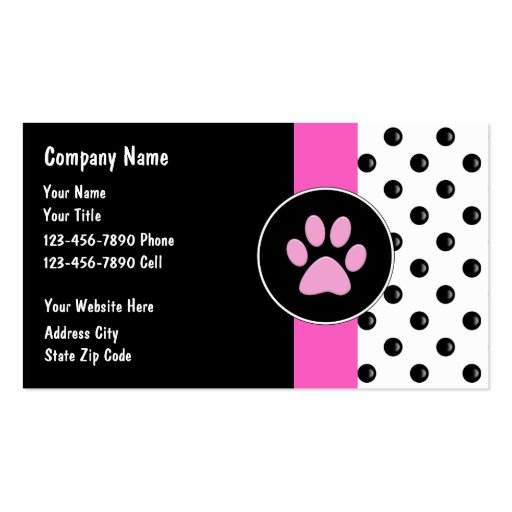 Pet care business cards zazzle for Pet business cards