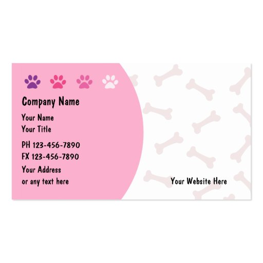 Pet care business cards new for Pet grooming business cards