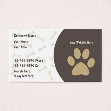 new,or,pet Pet Care Business Cards New