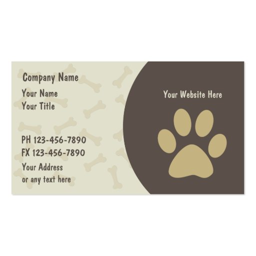 Pet care business cards new zazzle for Pet care business cards