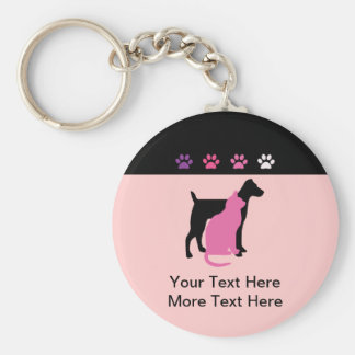 Pet Care Business Keychains