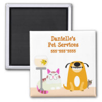 Pet Care Business Magnet