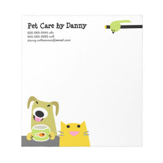 Pet Care Business Memo Note Pads