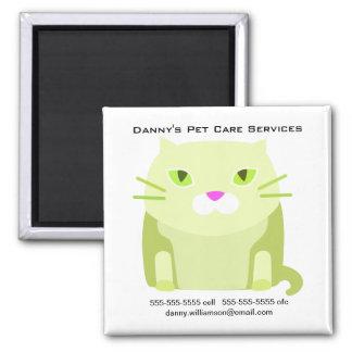 Pet Care Business Promotional Cat Magnet