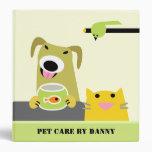 Pet Care Business Vinyl Binders