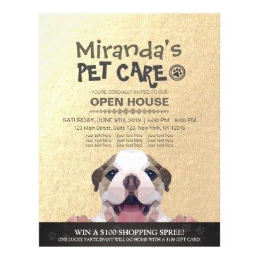 Pet Care Grooming Shop Pet Beauty Salon Open House Flyer
