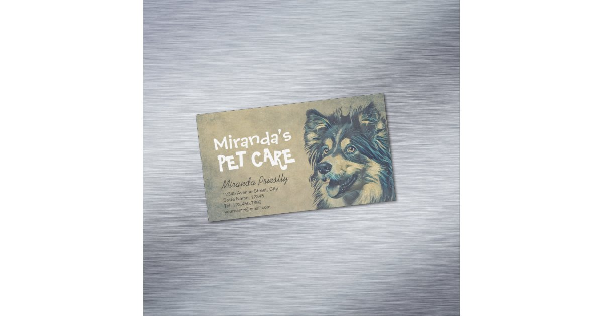 Magnificent Pet Care Business Cards Photos - Business Card Ideas ...