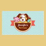 Pet Care Pet Food Shop Business Card