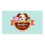 Pet Care Pet Food Shop Double-Sided Standard Business Cards (Pack Of 100)