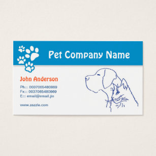 Veterinary business cards templates zazzle pet care pet veterinary or grooming business card reheart Image collections