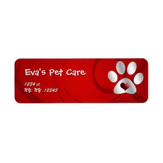 pet care Return address label