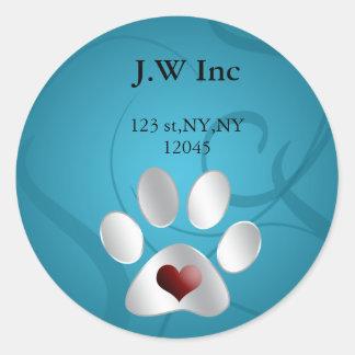 pet care Return address label Stickers