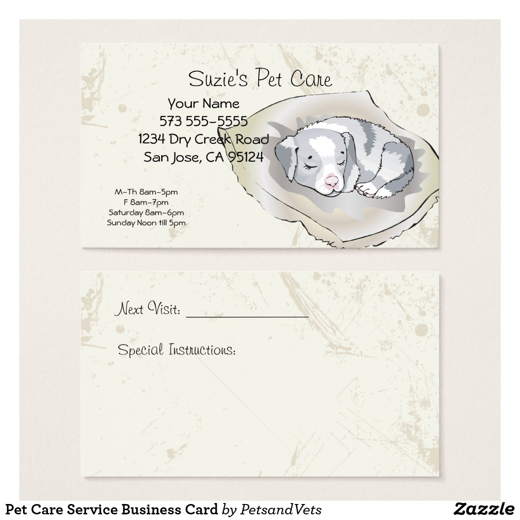 Pet Care Service Business Card