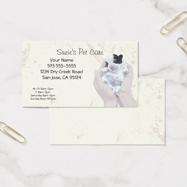 Pet Care Service Business Card