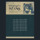 """Pet Care Sitting Adorable Cartoon Dog Illustration Flyer<br><div class=""""desc"""">Adorable Cartoon Dog Illustration Personalized Flyer Template - Ideal for Pet Bathing and Grooming / Pet Care / Pet Sitting / Pet Grooming / Pet Food Shop / Pet Beauty Salon / Animal Hospital / Animal Clinic. Unique Design for you. All text style, colors, sizes can be modified to fit...</div>"""