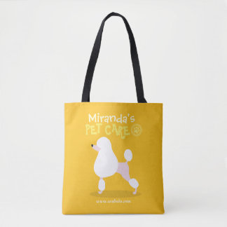 Pet Care Sitting Adorable Cartoon Dog Illustration Tote Bag