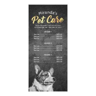 Pet Care Sitting Grooming Beauty Salon Price List Rack Card