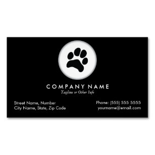 Pet Care Veterinarian Magnetic Business Card