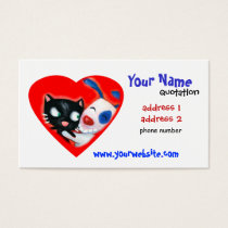 pet care, veterinarians, animal lovers business card