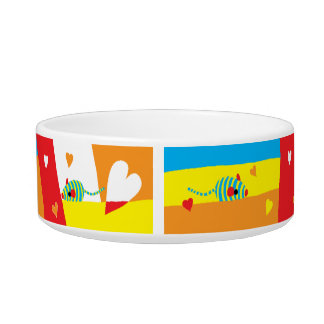 "Pet CAT Medium Bowl ""Eat Drink and be Furry!"""