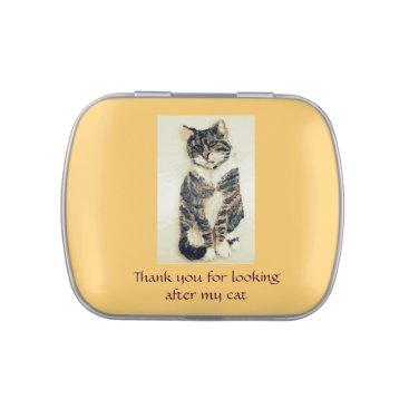 Pet Cat Sitter Thank You Candy Tin