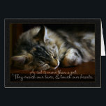 "Pet Cat Sympathy Card, Loss Of Pet Card<br><div class=""desc"">Pet Cat Sympathy Card,  Loss Of Pet</div>"