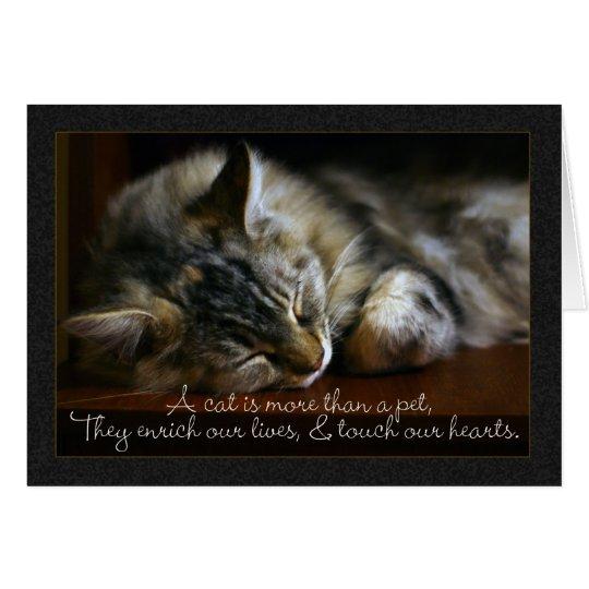Pet cat sympathy card loss of pet card zazzle pet cat sympathy card loss of pet card altavistaventures Gallery