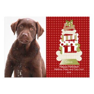 Pet Christmas Cards | Flat Card Invitation Stock