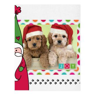 Pet Christmas Photo Card Postcards