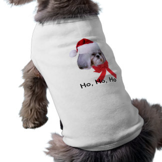 Pet Christmas Shirt with Shih Tzu Dog