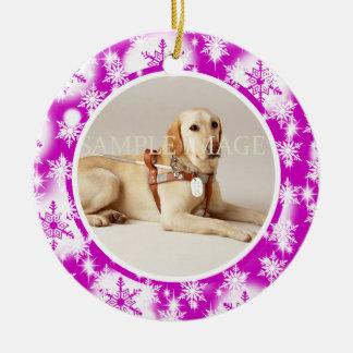 Pet christmas snowflake PERSONALIZE Ceramic Ornament