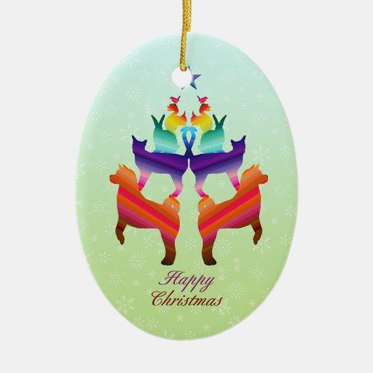 Pet Christmas tree Ceramic Ornament